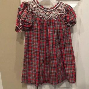 Adorable plaid dress for baby girl